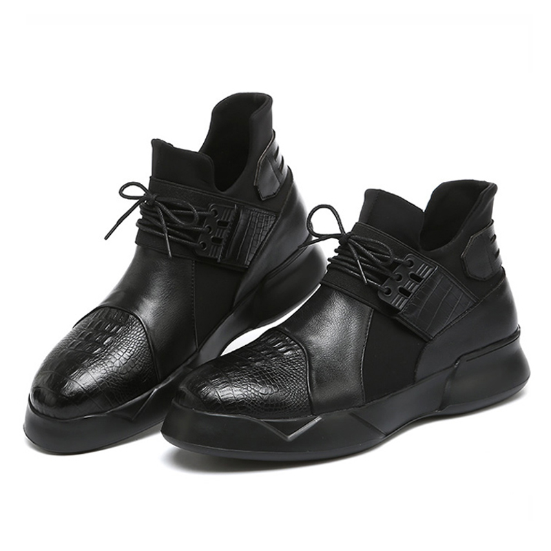 Fashion boots men 2016 High Quality Genuine Leather black Round Toe Hook&Loop Ankle Boots Casual boots botas Male martin boots степ платформа torres 2 уровня al1005