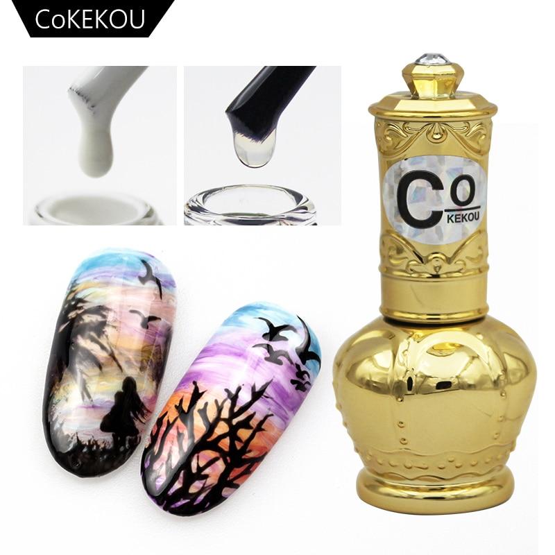 CoKEKOU 14ML Blossom Nail Gel Nail Art DIY Magic Blooming Effect Flower Gel Polish Soak Off UV Nail Glue Gel Varnish Soak-off