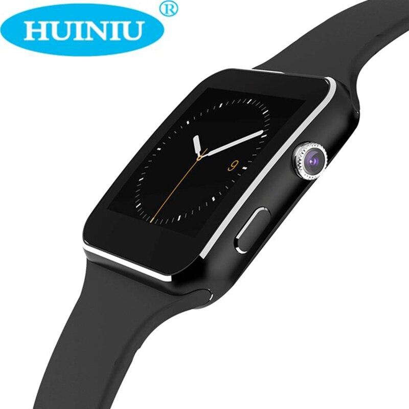 imágenes para X6 Bluetooth Reloj Inteligente Reloj Con Soporte de La Cámara Tarjeta SIM Smartwatch Para Android relogio reloj inteligente Reloj Teléfono Inteligente
