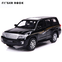 TYT Land Cruiser 1 32 Pull Back Car Diecast Alloy Car Simulation Vehicles Model With Battery