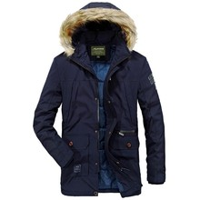 2018 Mens Winter Warm Coats Thicken Down Parkas Solid Color Hooded Collar High Quality Men Fake Fur Collar Business Jackets Coat