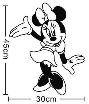 US $14.39 20% OFF|Cartoon Mickey Und Minnie Maus Vinyl Wandtattoo  Kinderzimmer Wandmalerei Sticke Kinder Schlafzimmer Kindergarten  Dekoration-in ...