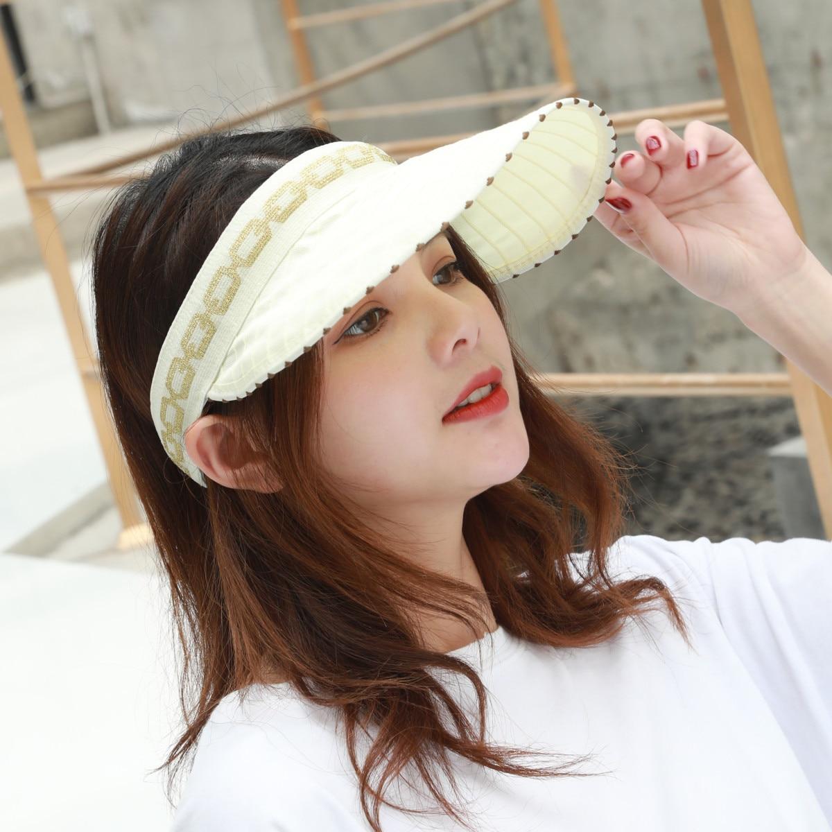 Cap can be folded into a headband men and women summer sunscreen outdoor sports sunshade baseball cap in Women 39 s Sun Hats from Apparel Accessories