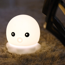 7 Colors Multicolor Cartoon Cute octopus Pat Light Soft Silicone Table Lamp Home Decor for Baby Kids Touch Control Night light