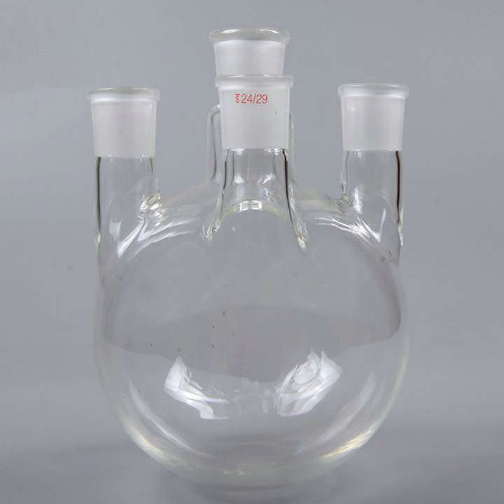 все цены на 1000ml Round Bottom 4-neck glass flask with STRAIGHT NECKS, Four-mouth Flask boling bottle with selectable Caliber онлайн