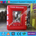 Hot sale Inflatable Money Machine Cash Cube Money Booth tent for Sale with 2 Free Blowers