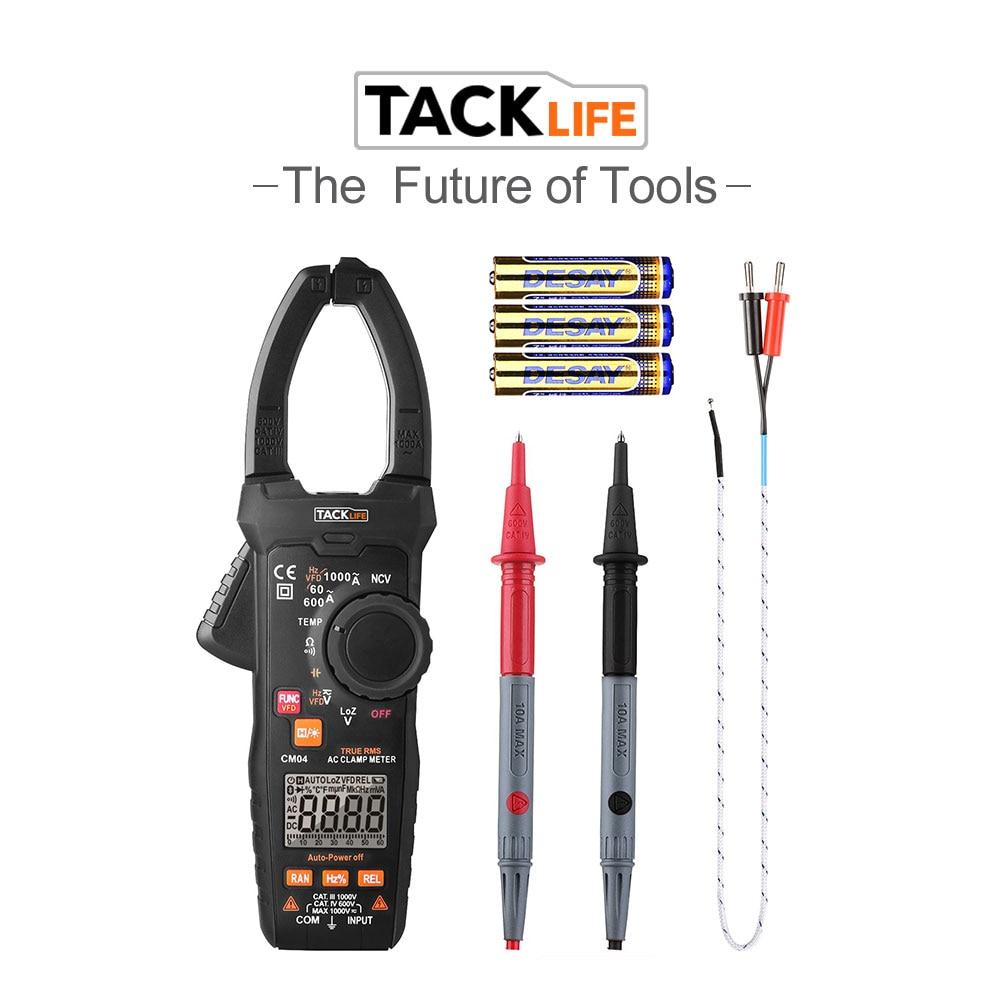Tacklife CM04 цифровой клещи 6000 отсчетов TRMS мультиметр для переменного тока 1000A частота рабочего цикла сопротивление емкости