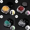 12 Boxes Glitter Magic Mirror Chrome Effect Dust Shimmer Nail Art Powder 12 Colors 12 Brushes