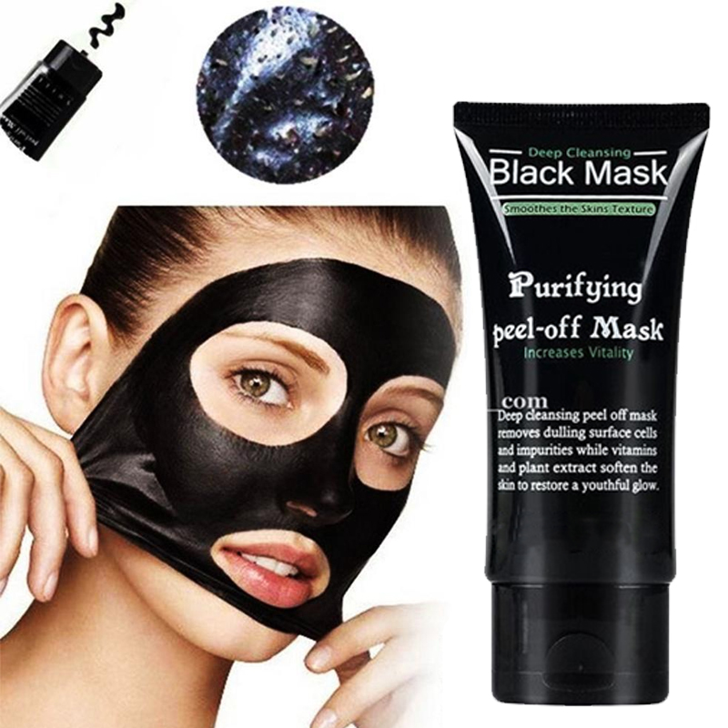 Black Mask Face Blackhead Remover Peeling Mask Suction Blackhead Acne Treatment Deep Cleansing Purifying Facial Masks