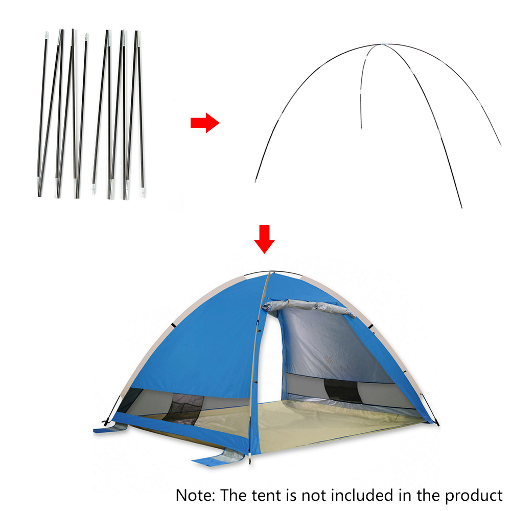 Image 5 - 1 pair 12 pieces Arc Tent Rod Glass Fiber Poles for Tents Tent Pole Replacement Camping Accessories Tents Accessorios-in Tent Accessories from Sports & Entertainment
