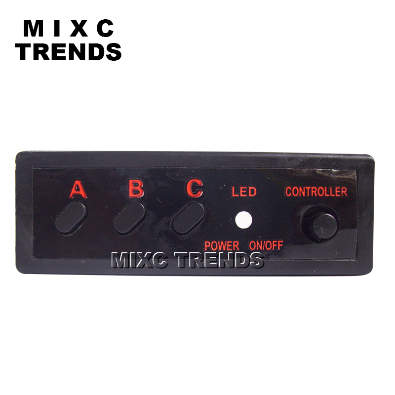 MIXC TRENDS Motosiklet Strobe Flash Light DC 12V 4x3 işıqlı yanan - Avtomobil işıqları - Fotoqrafiya 4