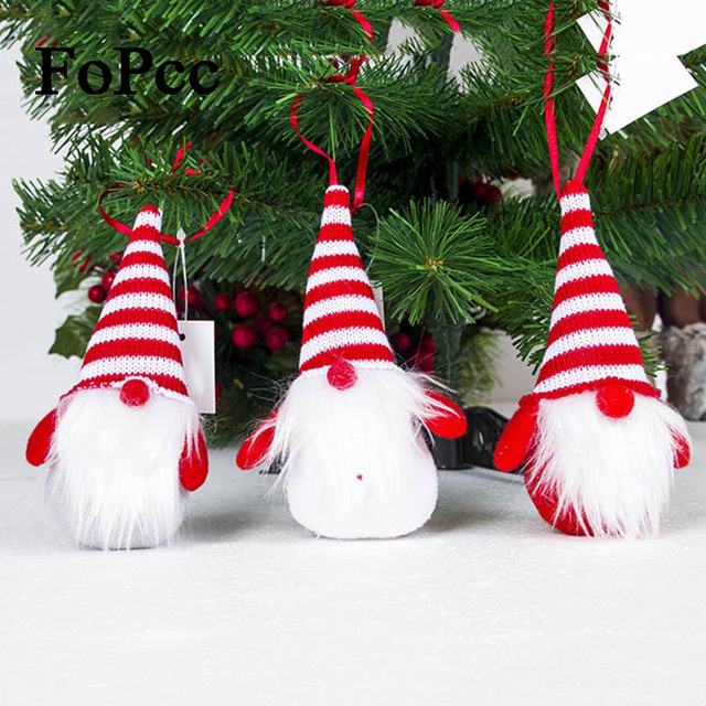 3PCS Creative Santa Claus Pendant Ornaments Christmas Tree Doll Pendant kawaii New Year Christmas Decorations For Home New D