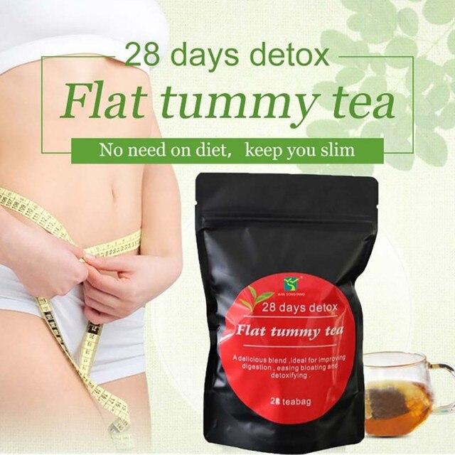 28 дней натуральный чай для похудения чай сжигающий жир для Вес потери здорового похудения Тощий 2019