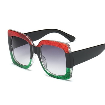 Oversized Square Sunglasses Women Brand Designer Clear Lenses Sun Glasses Female Three Colors Big Frame Party Eye Glasses Oculos