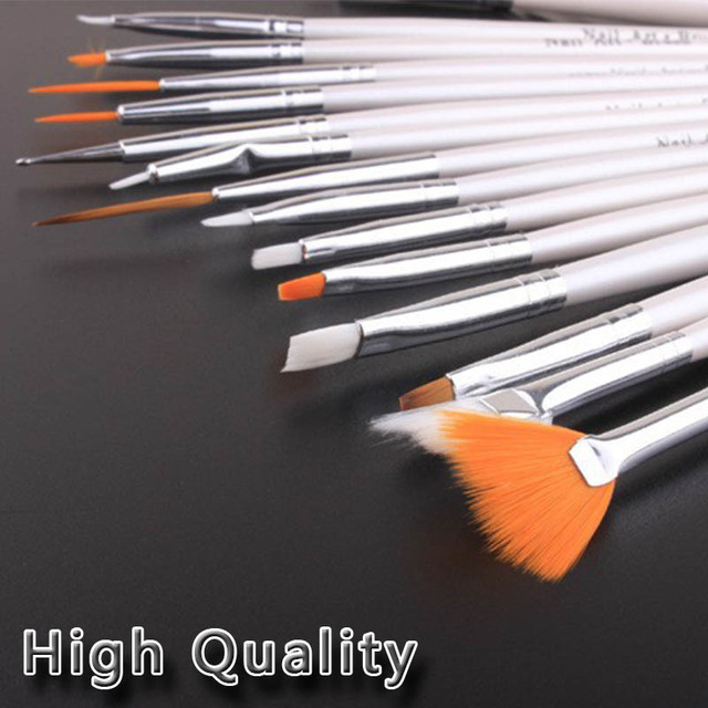 Nail art brush  drawing paint brush set 15 finger brush set of tools nail art drill point pen light therapy pen crystal pen