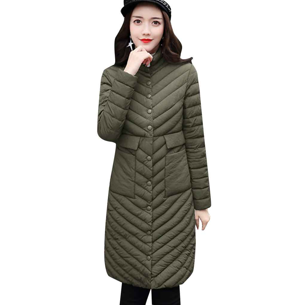 Women Ultra Light Thin Down Cotton Winter Jacket Parkas Single Breasted Plus Size Slim Thin Cotton Coat встраиваемая акустика speakercraft profile accufit ultra slim one single asm53101 2