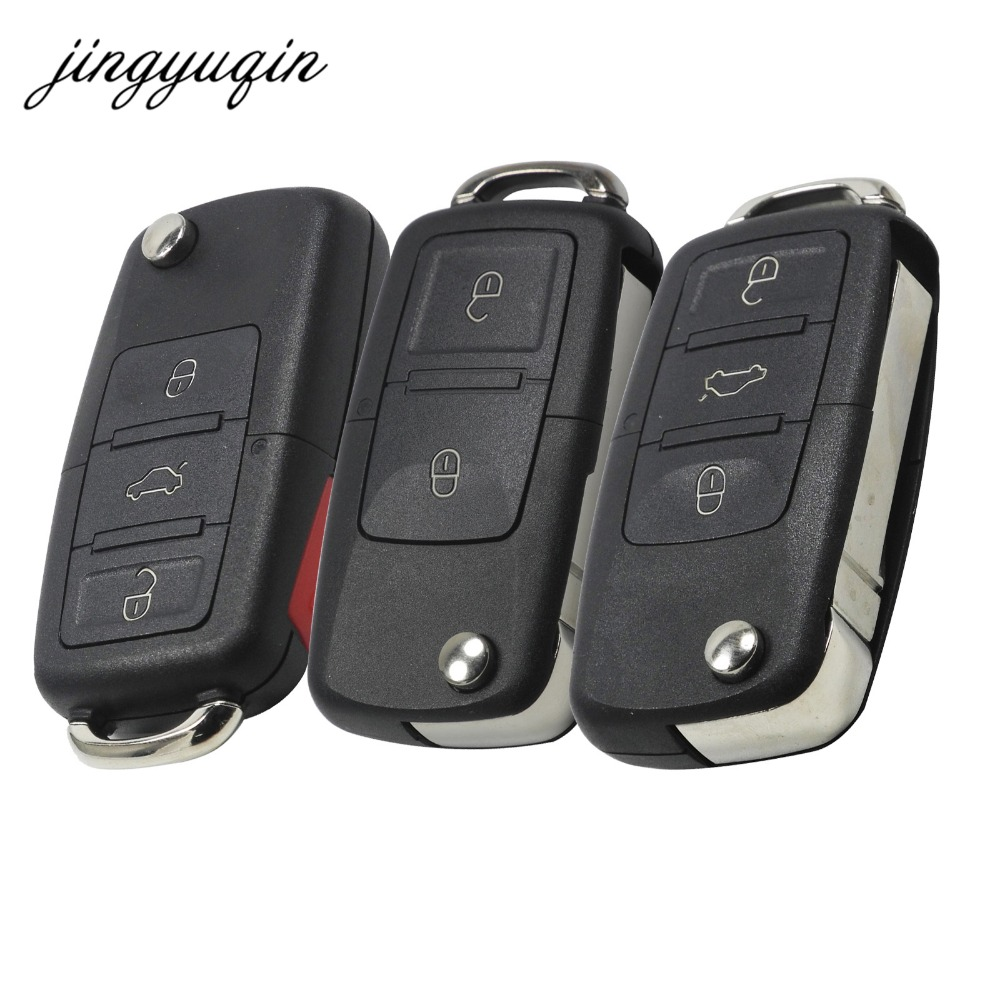 jingyuqin 20pcs lot Folding Car Remote Flip Key Shell Case Fob For Vw Jetta Golf Passat