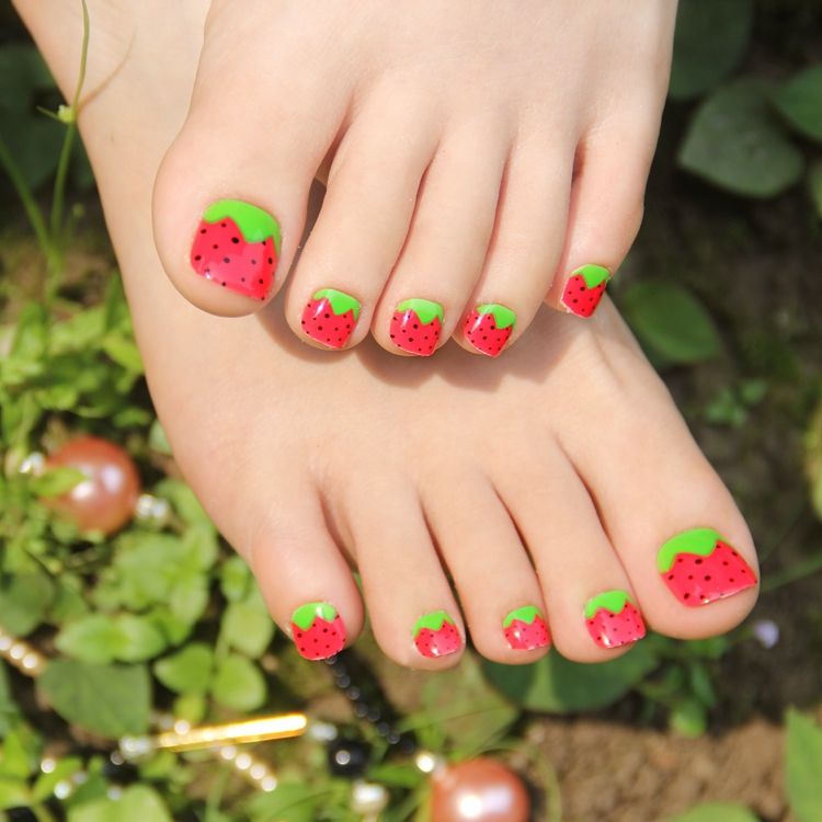 Baseball toe nail stickers kamos sticker here are 10 cute baseball nail art ideas source kawaii fake toe nails for women and children strawberry adorable prinsesfo Gallery