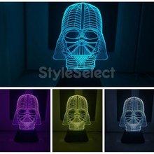 Творческой 3D Bulbing звездные войны дарт вейдер ночь 7 изменение цвета из светодиодов стол изменение из светодиодов бюро свет ночника USB лава лампа