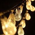 Al aire libre 2.2 M 20 led de Cuerda de Iluminación Batería AA Batería Led Ligh Cadena de Jardín Lámparas de Navidad Festival de La Boda Decoración Del Hogar