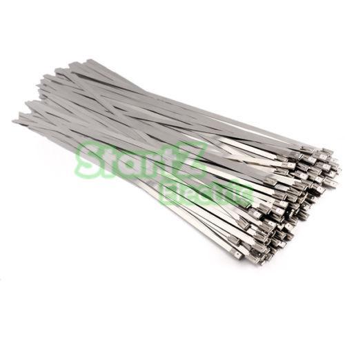 100 Exhaust Black Nylon Cable Locking Ties Tie Wrap Tidies Heat Wrap 400mm 4.6