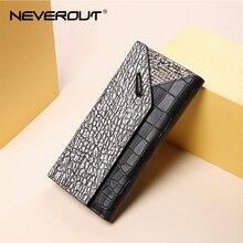 Nigdy nie panie pieniądze torba skóra Split portfele wysokiej jakości czarne portfel kobiety znane marki posiadacze kart kieszeń na telefon komórkowy