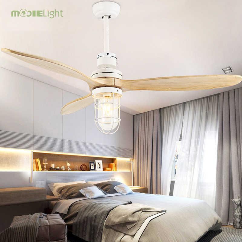 Mooielight светодио дный Ретро Декор расходование электроэнергии потолочных вентиляторов с дистанционным управлением украшения дома вентилятор вентиляторы для ресторана потолочный светильник