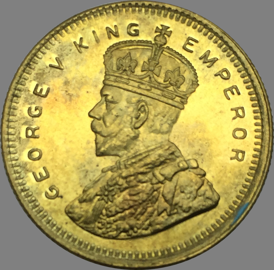 Coins East British India Gold Coin George V King Emperor
