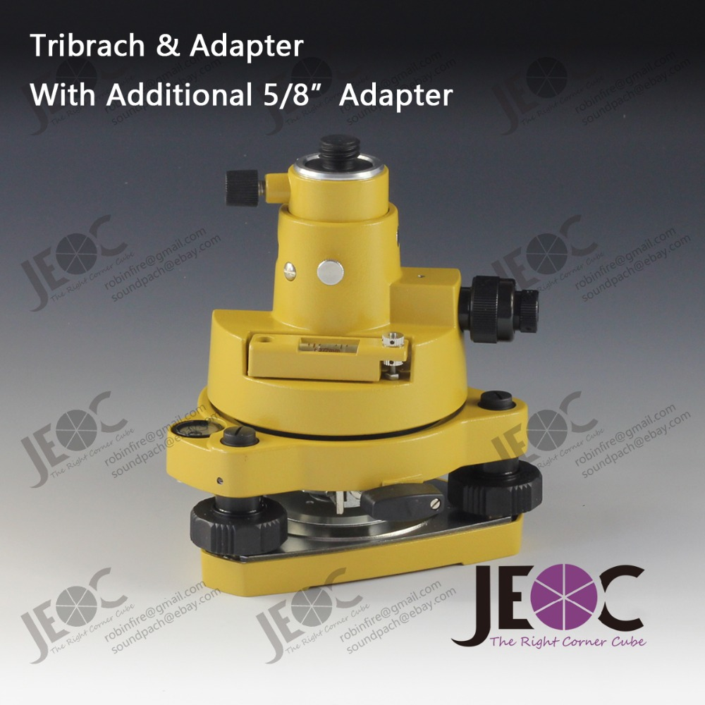 Topcon Style Tribrach Adapter with optical plummet additional 5 8 adapter