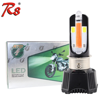 Universal U-shaped Red DRL Foglight Design M02K DC 40W 4000LM Hi/Lo Beam Motorcycle Motorbike LED Headlight Fit H4 P15D H6 HS1