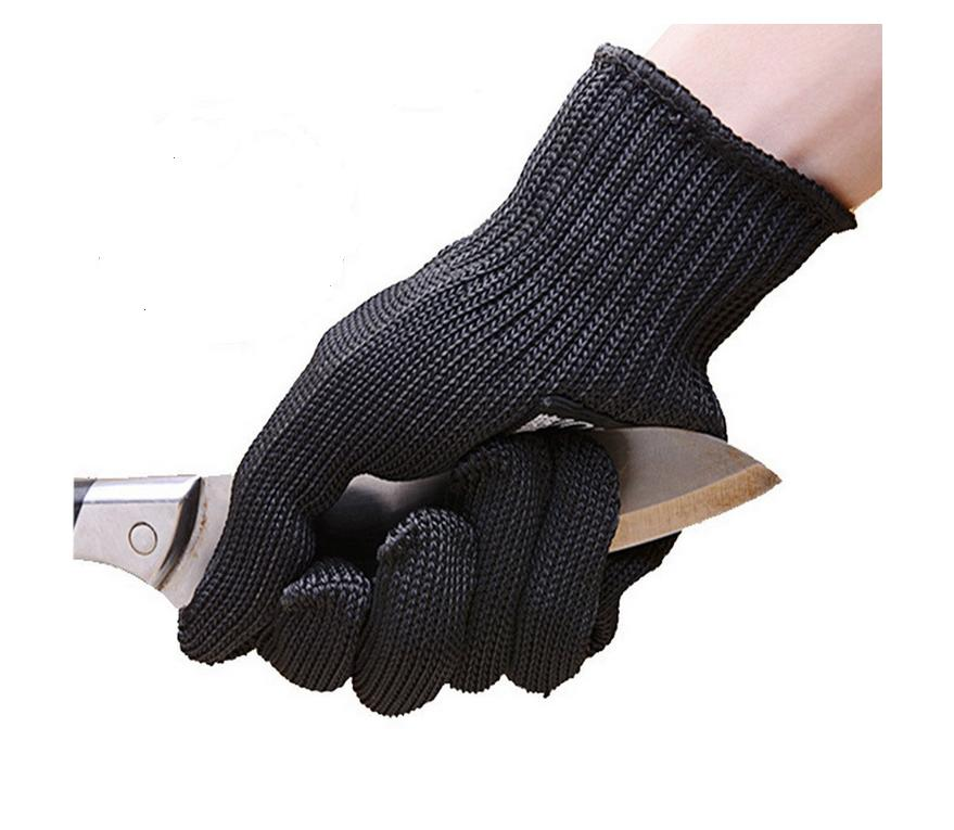 2 Double Cut Resistant Heat-resistant Work Gloves, Kitchen, Garden, Sliced Anti-vibration Safety Gloves, Hand Protection Level 5
