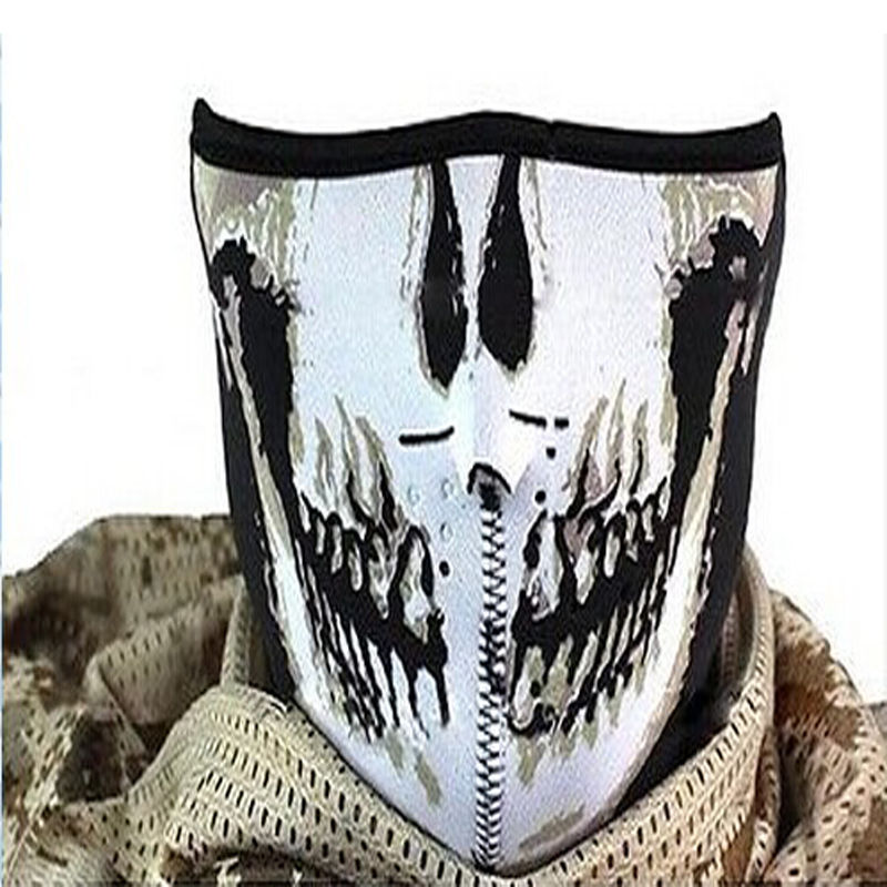 High Quality Hard PVC Airsoft Paintball Skeleton Skull Mask / Face Protective Games Battlefield Mask Shield ry211