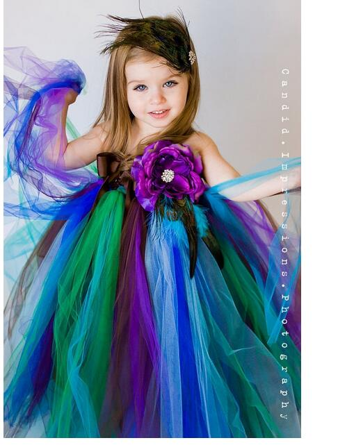 Girls Pageant Formal Dresses 2017 Summer Flowers Gauze Gowns Gallus Kids Halloween Party Dress Children's Long Dress Dancewear long criss cross open back formal party dress