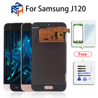 SM J120F/DS adjust LCD Display For Samsung Galaxy J120 J1 2016 LCD J120M/DS Screen Touch Digitizer Assembly Replacment for J120H