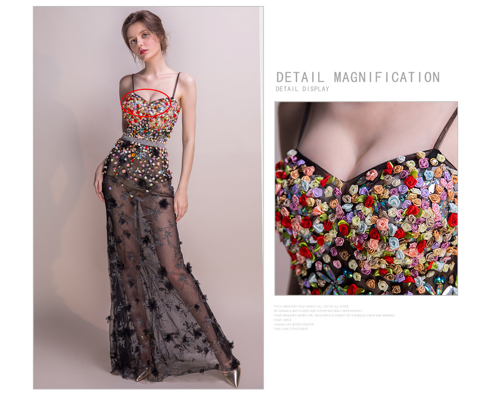 18 Women Dresses Mesh Elegant Party Club Wear Sexy Wrap Summer Long Sweet Floral Nightclub See Through Gothic Lolita Dress 4