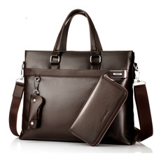 купить Classic Genuine Leather Men's Handbag Business Bag Cowhide Bolsa Masculina Real Leather Male Briefcase Shoulder Messenger Bag по цене 2309.27 рублей