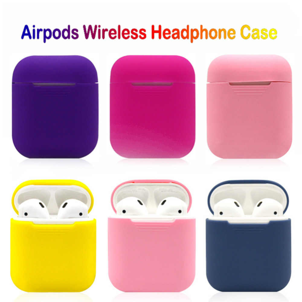 Soft Silicone Earphone Cases For Apple Airpods Shockproof Cover Plain Bluetooth Earphone Case For Airpods Ultra Thin Skin Box