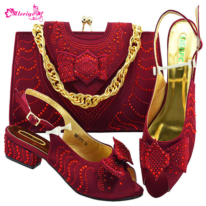 MM1075-WIN Newest African Style shoes and bag sets Italian shoe with matching bag TOP selling shoes and bags to match doershow shoe and bag to match italian african shoe and bag sets women shoe and bag to match for parties african shoe htx1 18