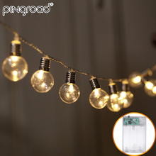 5 м 40 светодиодный s глобус лампочка светодиодный светильник s гирлянда бусы на батарейках гирлянда светодиодный Сказочный светильник s Праздничный Рождественский светодиодный светильник PD058