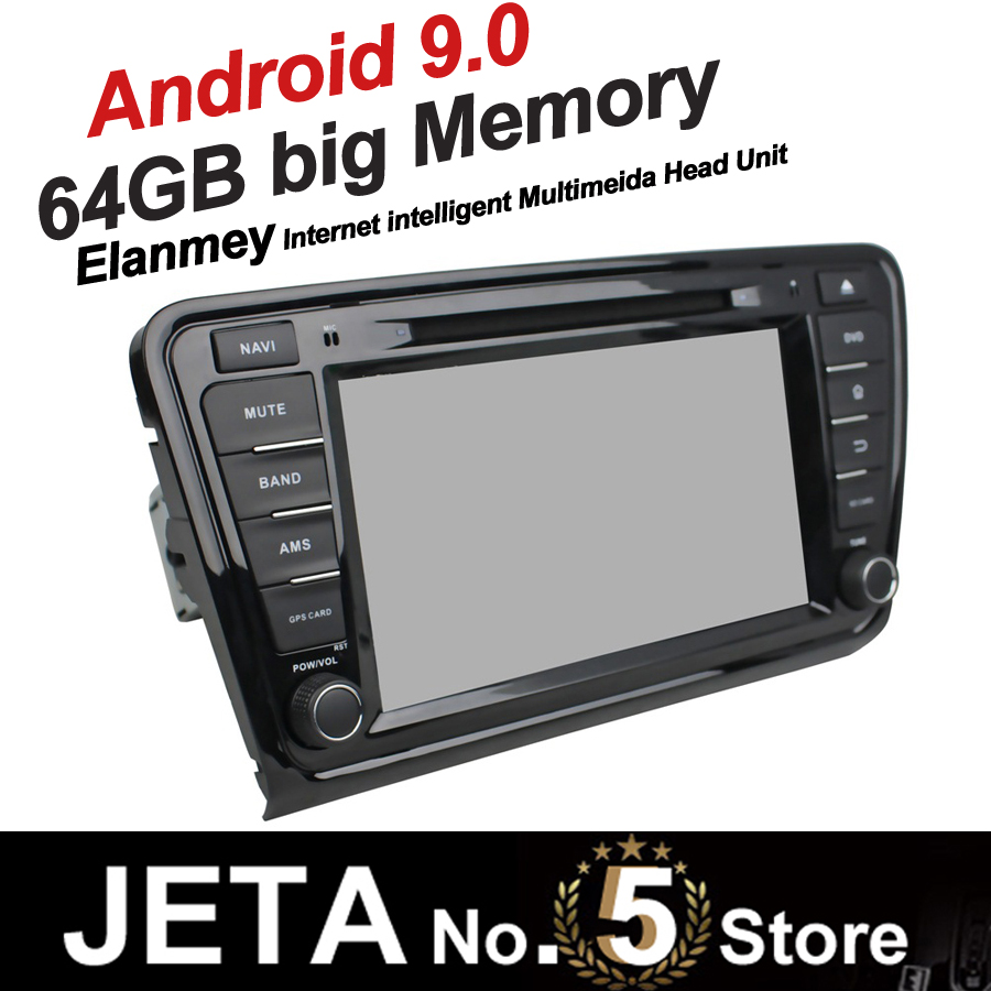 Fit for SKODA OCTAVIA 2014 2016 Car Radio GPS Music player tape recorder Android 9.0 64GB big memory DSP equalizer IPS screen image