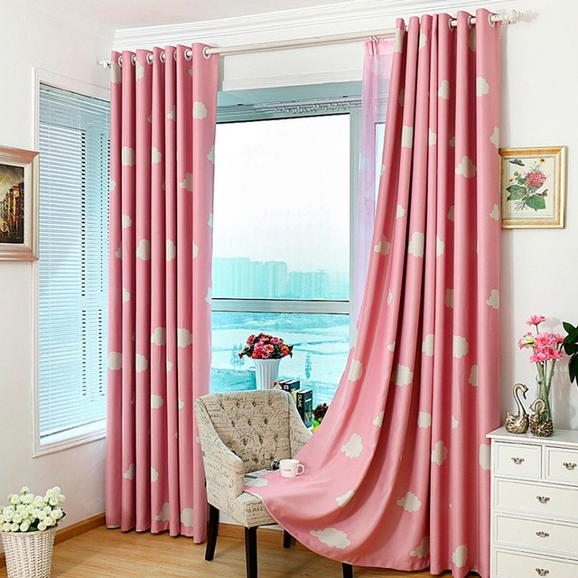 High Quality Full Blackout Curtains for Living Room Clouds Pattern ...