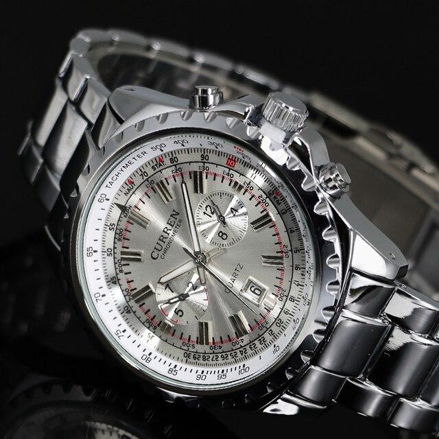 2016 Top Brand Luxury Men's Watches Men Wristwatches Stainless Steel Strap Busin
