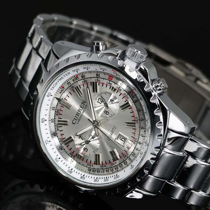Prix pour 2016 Top marque de luxe hommes montres hommes montres-bracelets en acier inoxydable bracelet affaires robe montre Reloj Hombre horloge hommes