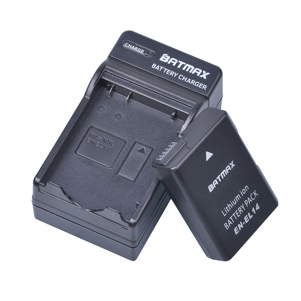 1Pc EN-EL14 EN-EL14a ENEL14 EL14 1200mAh Battery + Charger for Nikon P7800,P7700,P7100,D5500,D5300,D5200,D3200,D5100,D3100,Df.