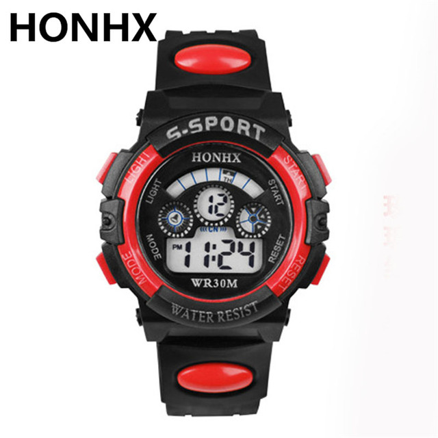 2017 HONHX Relogio Masculino Waterproof Children Boy Hours Digital LED Quartz Al