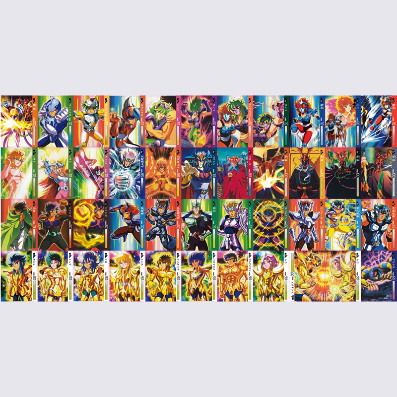 2019 45pcs Saint Seiya Super Ultra Instinct Action Toy Figures Commemorative Edition Game Collection Cards