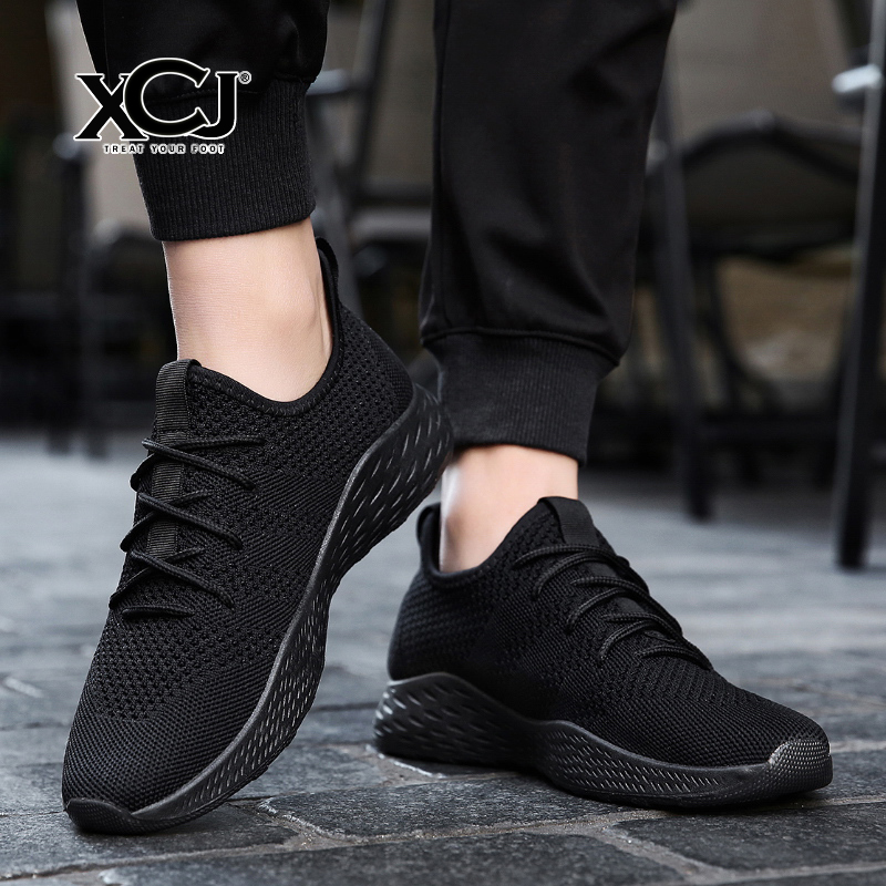 Men Casual Shoes Brand Men Shoes Men Sneakers Flats Mesh Slip On Loafers Fly Knit Breathable Plus Big Size Spring Autumn XCJ plus size 39 44 men spring shoes 2017 spring air mesh shoes men breathable casual shoes for men hombres zapatillas e62