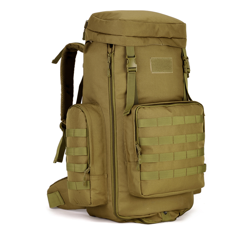 Adjustable Capacity Outdoor Bag Military Tactical Waterproof Molle Backpack Hiking Camping Trekking Gym Bags 70-85L S060
