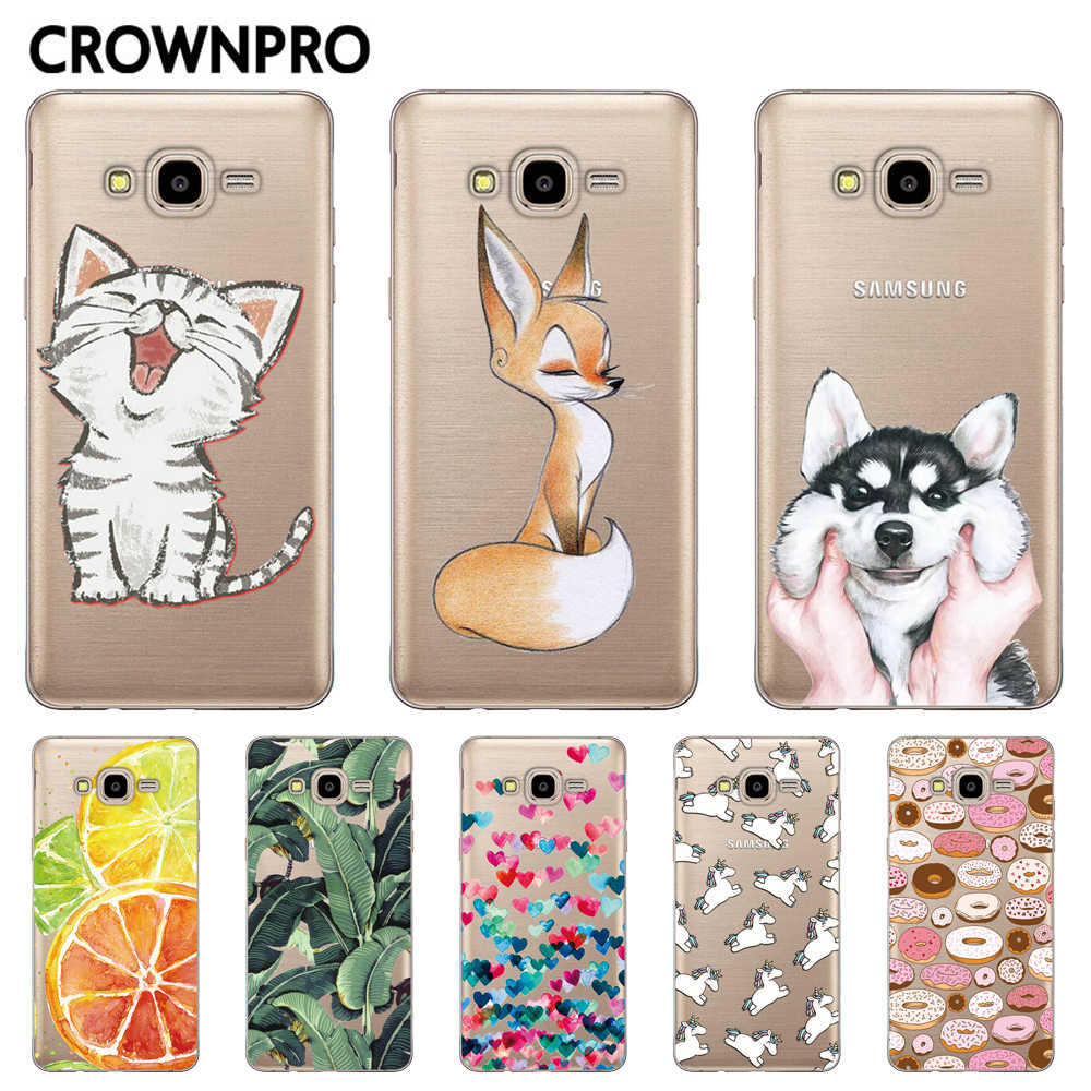 CROWNPRO Phone Cases FOR Samsung Galaxy J3 6 2016 Case Silicone Cover FOR Fundas Samsung J3 J320 J320F Soft TPU Back Covers