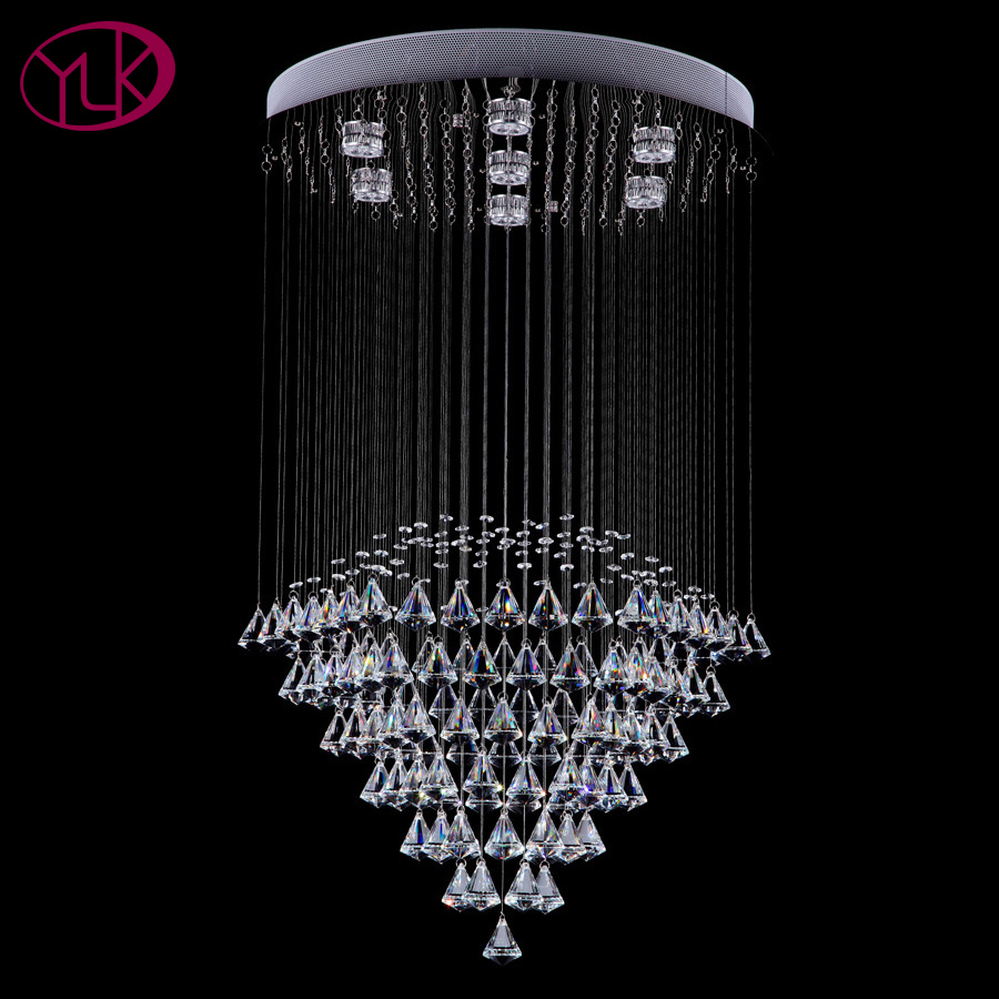 Modern round crystal chandelier living dining room led lighting modern round crystal chandelier living dining room led lighting chandeliers flush mount string light fixture cristal lustres in chandeliers from lights arubaitofo Image collections